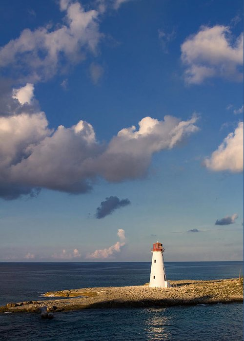 Lighthouse Greeting Card featuring the photograph Paradise Island Lighthouse by Stephanie McDowell