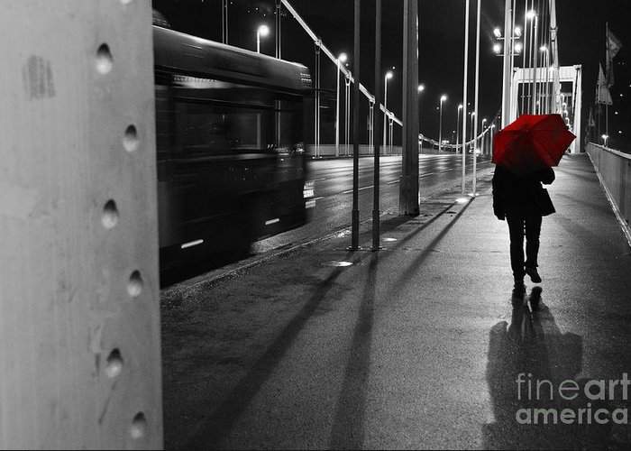 Bridge Greeting Card featuring the photograph Parallel Speed by Simona Ghidini