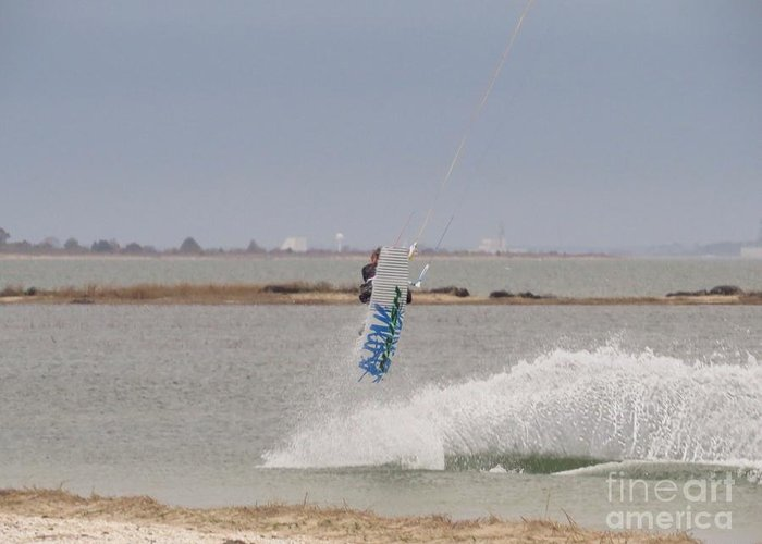 Parasurf Greeting Card featuring the photograph Parasurfer6 by Rrrose Pix