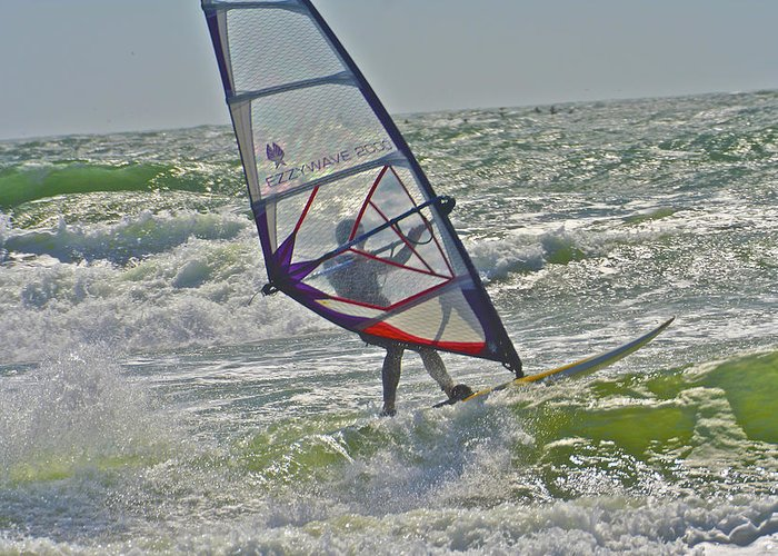 Sailing Greeting Card featuring the photograph Parasurfing by SC Heffner