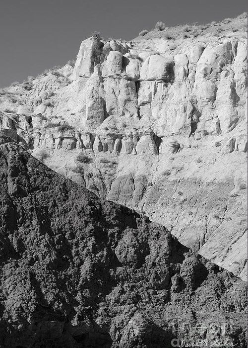 Black Greeting Card featuring the photograph Paria Utah I by Dave Gordon