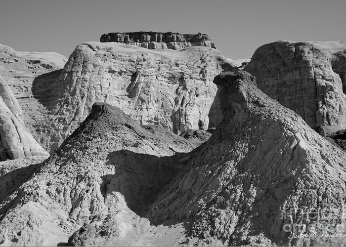 Black Greeting Card featuring the photograph Paria Utah IIi by Dave Gordon