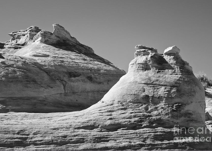 Black Greeting Card featuring the photograph Paria Utah Vii by Dave Gordon
