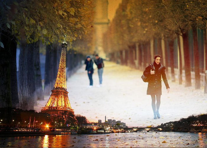 Greeting Card featuring the photograph Paris 21 by Jean Schweitzer