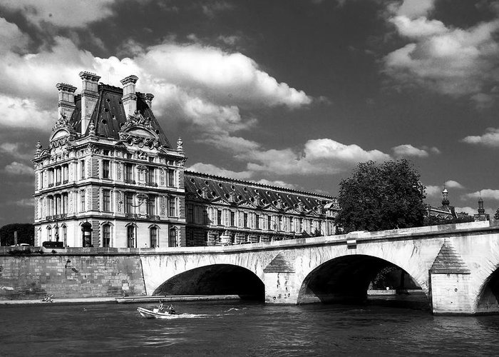 Paris Greeting Card featuring the photograph Paris Building In Bw by Joice Karyadi