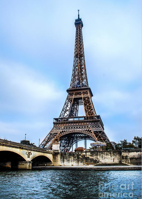 Paris Greeting Card featuring the photograph Paris Eiffel Tower by Remi D Photography