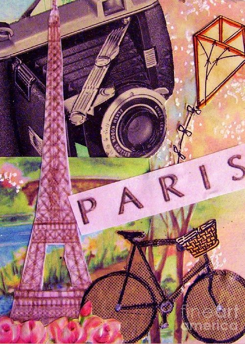 Paris Greeting Card featuring the drawing Paris by Eloise Schneider
