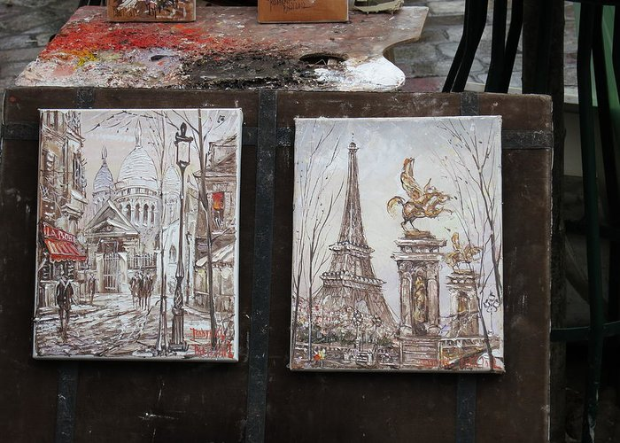 Paris Greeting Card featuring the photograph Paris France - Street Scenes - 121225 by DC Photographer