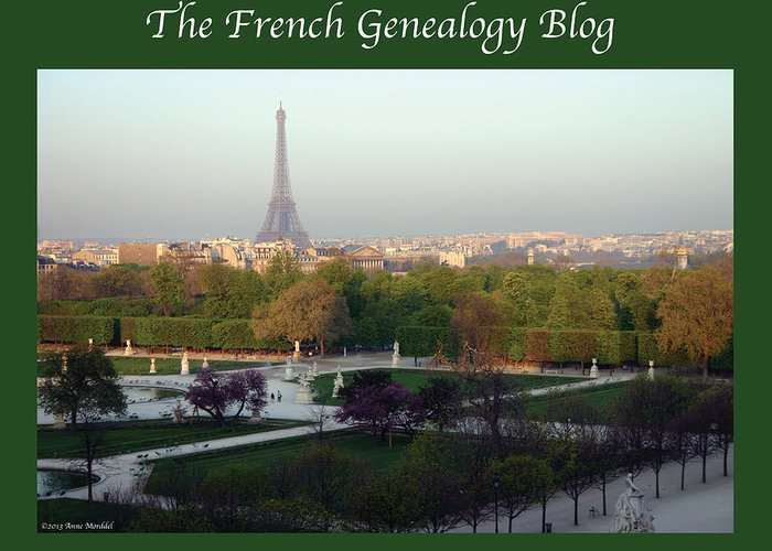 France Greeting Card featuring the photograph Paris In The Fall With Fgb Border by A Morddel