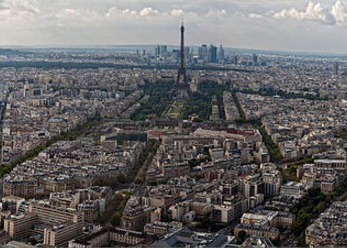 Paris Skylane Greeting Card featuring the photograph Paris by John Ridick
