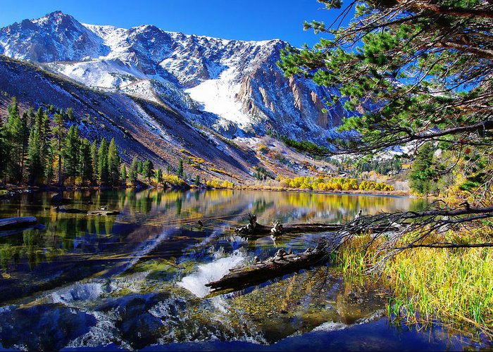 Alpine Lake Greeting Card featuring the photograph Parker Lake California by Scott McGuire