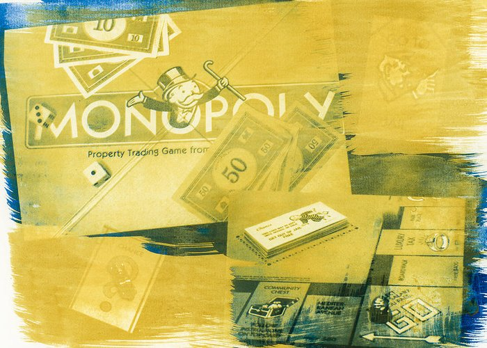 Monopoly Greeting Card featuring the photograph Pass Go by Caitlyn Grasso