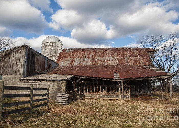 Farm Greeting Card featuring the photograph Passed By by Terry Rowe