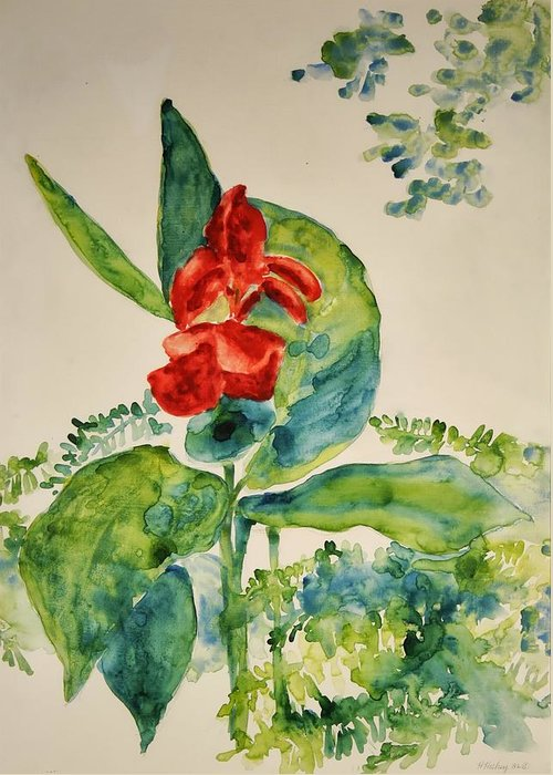 Greeting Card featuring the painting Passion by Helen Hickey