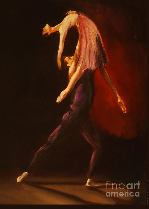 Ballet Greeting Card featuring the painting Passion by Nancy Bradley