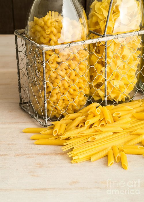 Pasta Greeting Card featuring the photograph Pasta Shapes Still Life by Edward Fielding