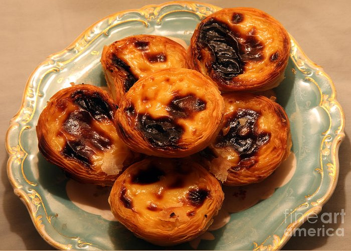 Pasteis De Belem Greeting Card featuring the photograph Pasteis De Belem by Ros Drinkwater