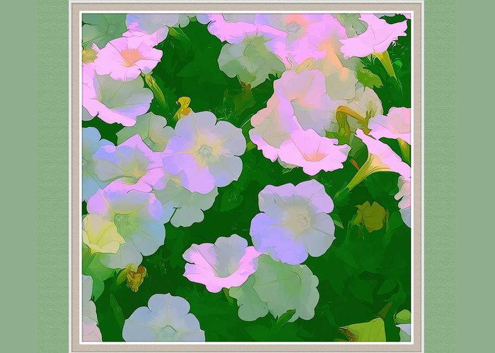 Artistic Photography Greeting Card featuring the photograph Pastel Flowers II by Tom Prendergast