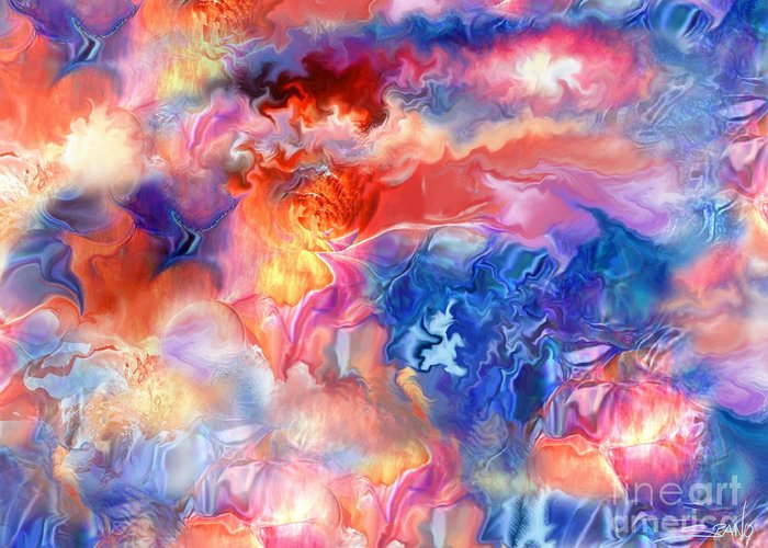 Spano Greeting Card featuring the painting Pastel Storm By Spano by Michael Spano