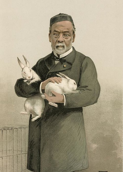 Louis Pasteur Greeting Card featuring the photograph Pasteur's Rabies Vaccine Research, 1880s by Science Photo Library