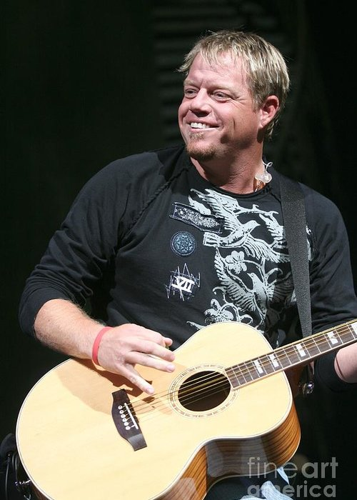 Country Greeting Card featuring the photograph Pat Green by Concert Photos