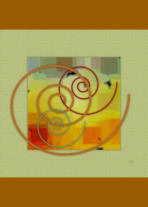 Abstract Greeting Card featuring the digital art Patchwork I by Ben and Raisa Gertsberg