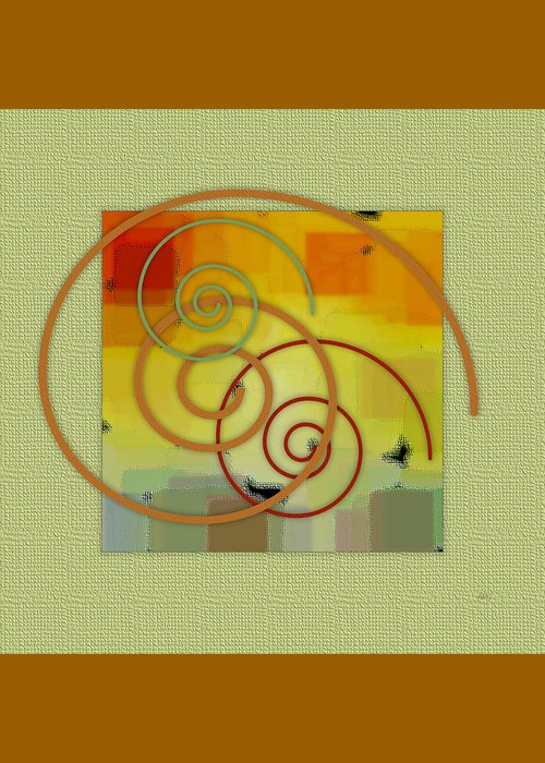 Abstract Greeting Card featuring the digital art Patchwork II by Ben and Raisa Gertsberg