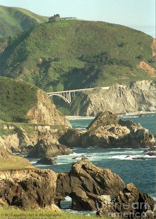 Bixby Greeting Card featuring the photograph Path To Bixby Bridge by DJ Laughlin