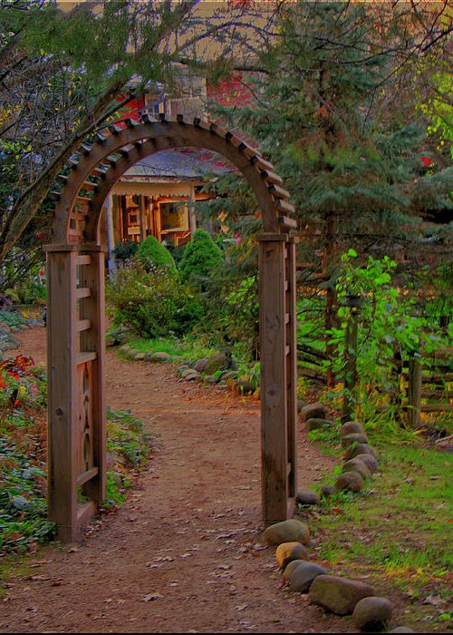 Path Greeting Card featuring the photograph Path To The House by Victoria Sheldon