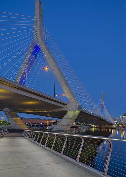 Boston Greeting Card featuring the photograph Path To The Leonard P. Zakim Bridge by Susan Candelario