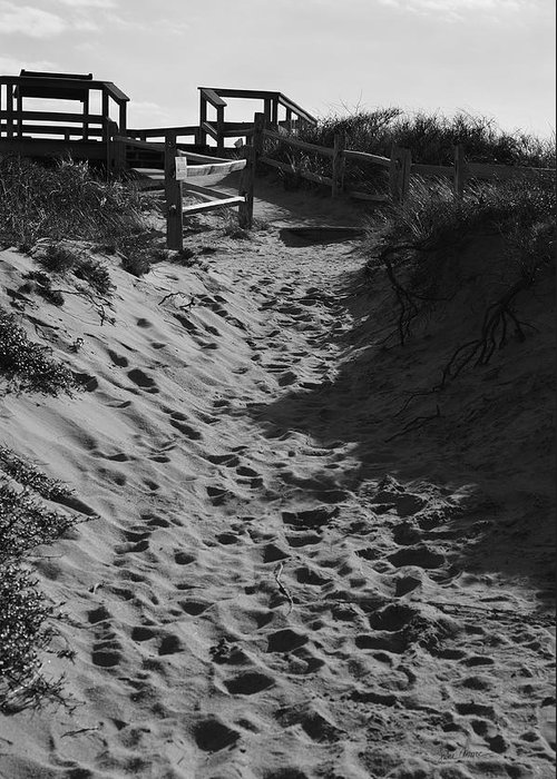 Dunes Greeting Card featuring the photograph Pathway Through The Dunes by Luke Moore