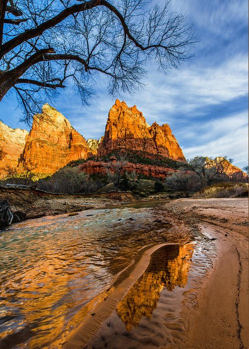 Patriarchs Of Zion Greeting Card featuring the photograph Patriarchs Of Zion by Chad Dutson