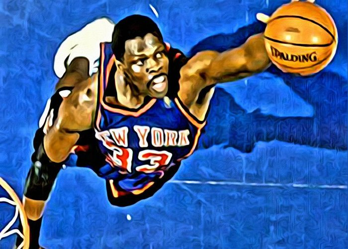 Patrick Ewing Greeting Card featuring the painting Patrick Ewing by Florian Rodarte
