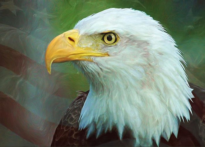 4th Greeting Card featuring the digital art Patriot by Heidi Smith