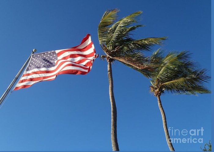 Flag Greeting Card featuring the photograph Patriot Keys by Carey Chen