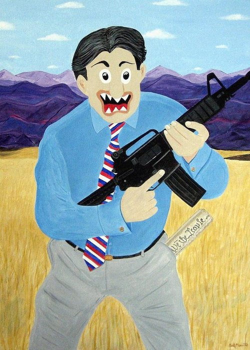 Patriot Greeting Card featuring the painting Patriot by Sal Marino