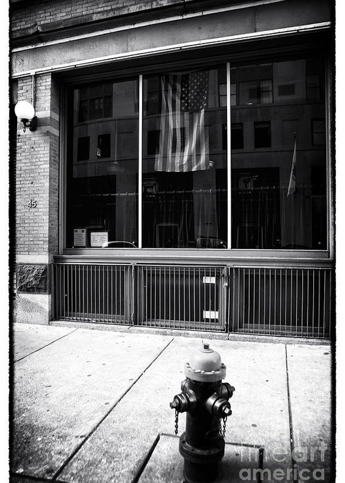 Patriotic Boston Greeting Card featuring the photograph Patriotic Boston by John Rizzuto