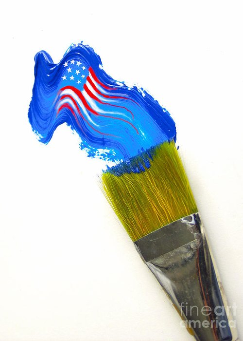 Patriotic Greeting Card featuring the photograph Patriotic Paint by Diane Diederich