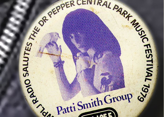 Studio Greeting Card featuring the photograph Patti Smith '79 by Del Gaizo