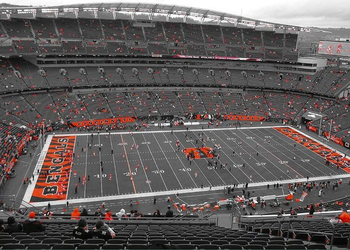 Paul Brown Stadium Greeting Card featuring the photograph Paul Brown Stadium by Dan Sproul