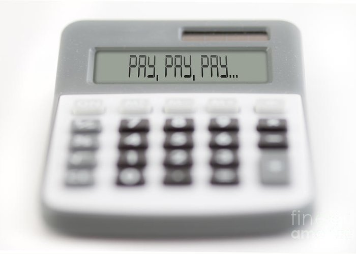 Acceptance Greeting Card featuring the photograph Pay Pay Pay by Michal Boubin