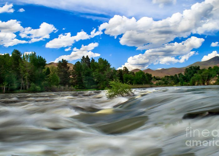 Idaho Greeting Card featuring the photograph Payette River by Robert Bales