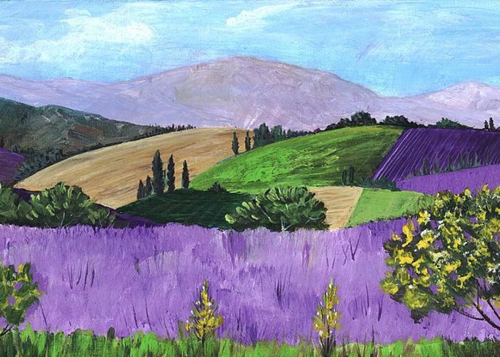 Malakhova Greeting Card featuring the painting Pays De Sault by Anastasiya Malakhova