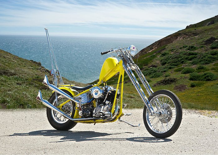 Art Greeting Card featuring the photograph Pch Chopper by Dave Koontz