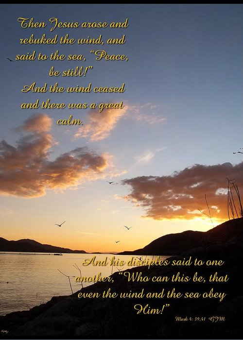 peace Be Still Greeting Card featuring the photograph Peace Be Still by Glenn McCarthy Art and Photography