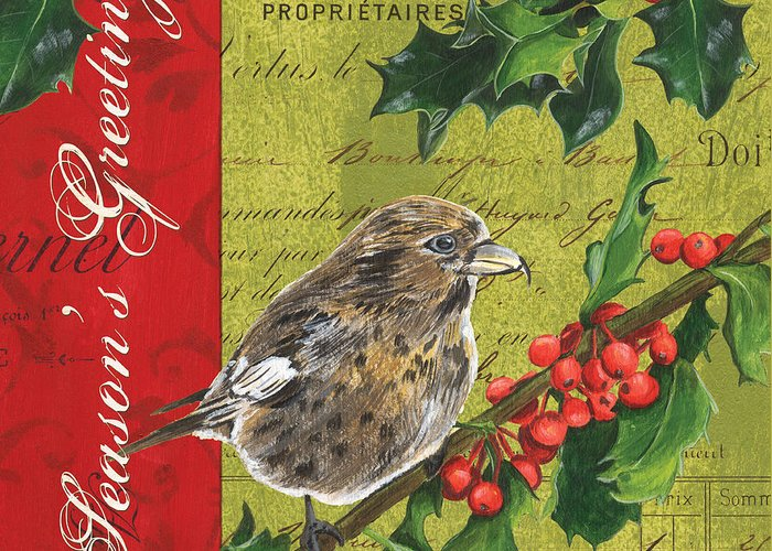 Christmas Greeting Card featuring the painting Peace On Earth 1 by Debbie DeWitt