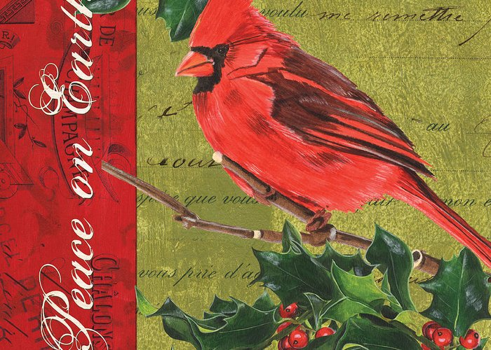 Christmas Greeting Card featuring the painting Peace On Earth 2 by Debbie DeWitt