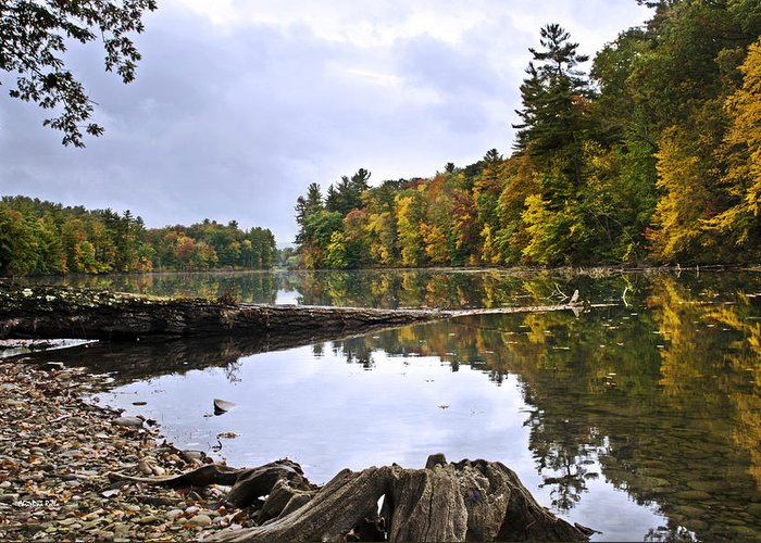 Fall Greeting Card featuring the photograph Peaceful Autumn Lake by Christina Rollo