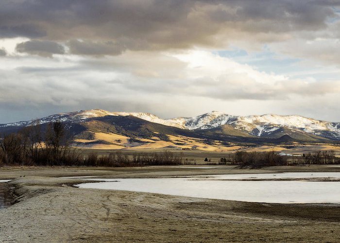 Mountains Greeting Card featuring the photograph Peaceful Day In Helena Montana by Dana Moyer