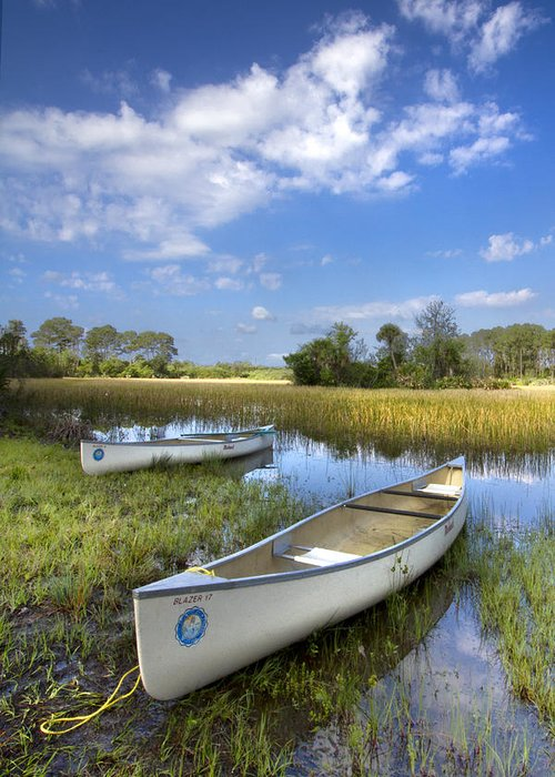 Boats Greeting Card featuring the photograph Peaceful Prairie by Debra and Dave Vanderlaan